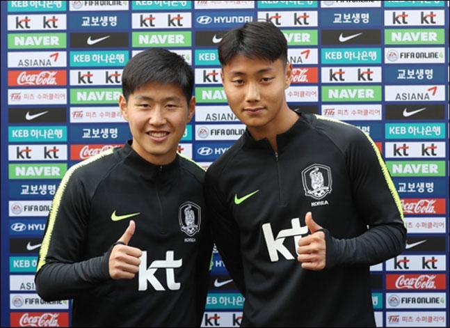 한국축구의 기대주 이강인(발렌시아)과 백승호(다름슈타트). ⓒ 연합뉴스