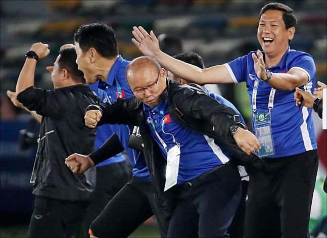 [베트남 말레이시아] 박항서 감독이 월드컵 2차예선 첫 승리를 따냈다(자료사진).ⓒ 뉴시스