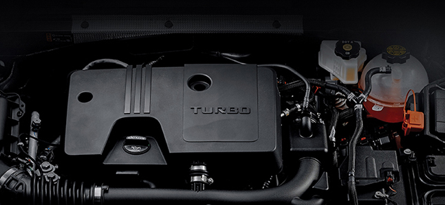 쉐보레 말리부에 장착되는 1.35ℓ E-Turbo 엔진. ⓒ한국GM