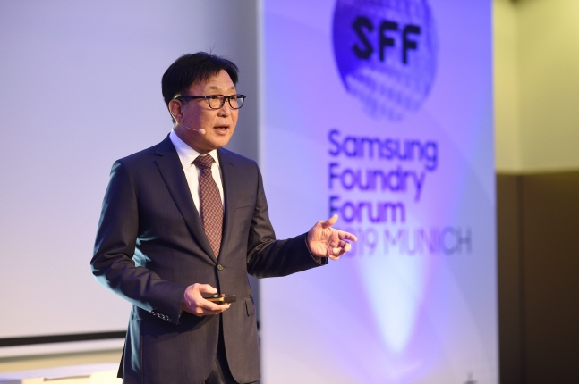 정은승 삼성전자 파운드리사업부장(사장)이 지난 10일(현지시간) 독일 뮌헨에서 개최된