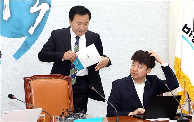 손학규 바른미래당 대표와 이준석 최고위원(자료사진). ⓒ데일리안 박항구 기자