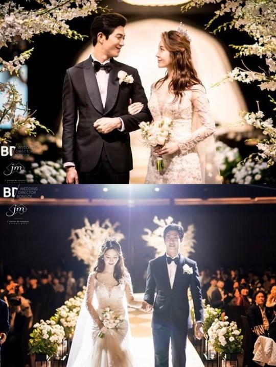그룹 티아라 출신 한아름의 결혼식 사진이 공개됐다.ⓒ해피메리드컴퍼니