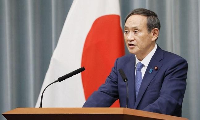 일본 정부 대변인인 스가 요시히데 관방장관.ⓒ연합뉴스