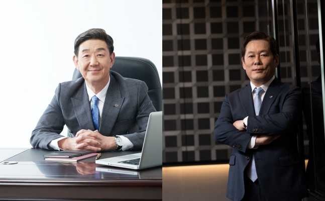 임진구(좌측),정진문(우측) SBI저축은행 대표이사ⓒSBI저축은행