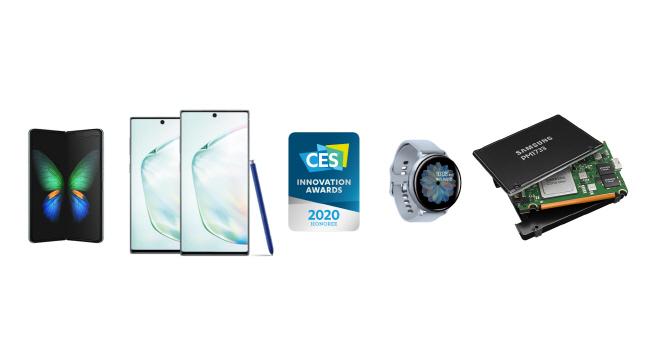 삼성전자가 'CES 2020'를 앞두고 최고혁신상을 수상한 제품들.ⓒ삼성전자