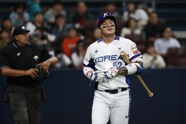 슈퍼라운드 첫 경기 미국전서 안타를 기록하지 못한 박병호. ⓒ 데일리안 홍금표 기자