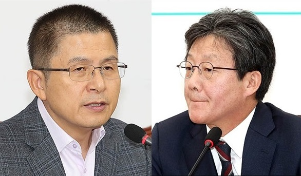 황교안 자유한국당 대표와 유승민 바른미래당 의원ⓒ데일리안 박항구 기자