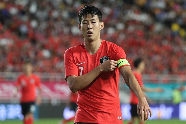 대표팀 주장 손흥민이 레바논을 상대로 분전해봤지만 팀의 승리를 이끌지 못했다. ⓒ 데일리안 홍금표 기자