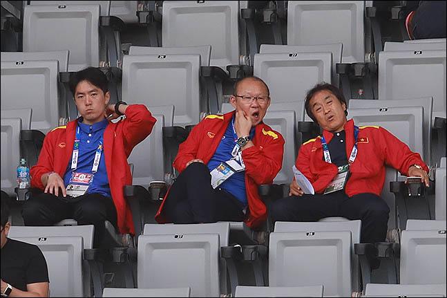 박항서 감독이 이끄는 베트남 축구대표팀은 UAE를 꺾고 G조 1위로 올라섰다. ⓒ 데일리안 류영주 기자