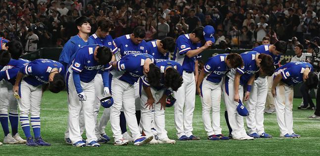 일본과의 2연전을 모두 내주며 준우승에 머문 야구대표팀. ⓒ 데일리안 홍금표 기자