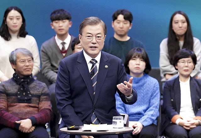 문재인 대통령의 국정지지율이 소폭 상승했다.(자료사진)ⓒ청와대