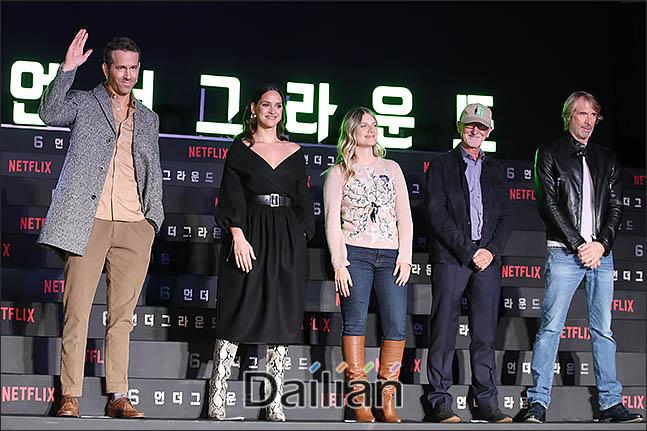2일 오전 서울 종로구 포시즌스 호텔에서 열린 넷플릭스 영화