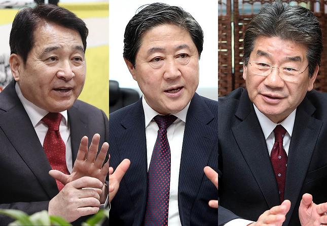 자유한국당 차기 원내대표 경선의 유력 후보군인 심재철·유기준·강석호 의원(사진 왼쪽부터). ⓒ데일리안