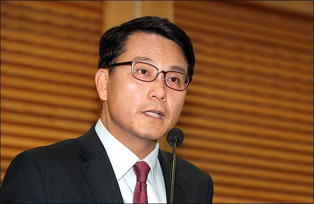 윤상현 자유한국당 의원이 5일 오후 국회 의원회관에서 원내대표 출마를 선언하고 있다. ⓒ데일리안 박항구 기자ⓒ