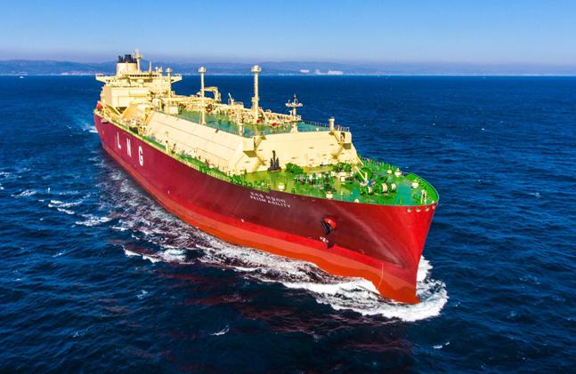 현대중공업이 건조한 LNG운반선.ⓒ현대중공업