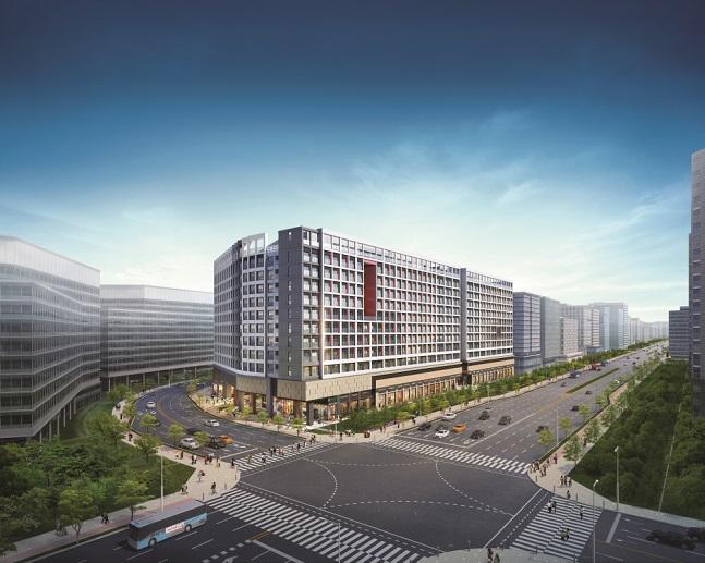 '김포한강신도시 현대썬앤빌 더킹' 투시도. ⓒ현대BS&C