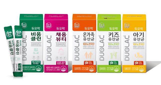 쎌바이오텍은 매스 마켓을 겨냥해 이너뷰티 2종과 패밀리 시리즈 3종 등 100% 한국산 세계 특허 프로바이오틱스 신제품 5종을 출시했다고 9일 밝혔다. ⓒ쎌바이오텍