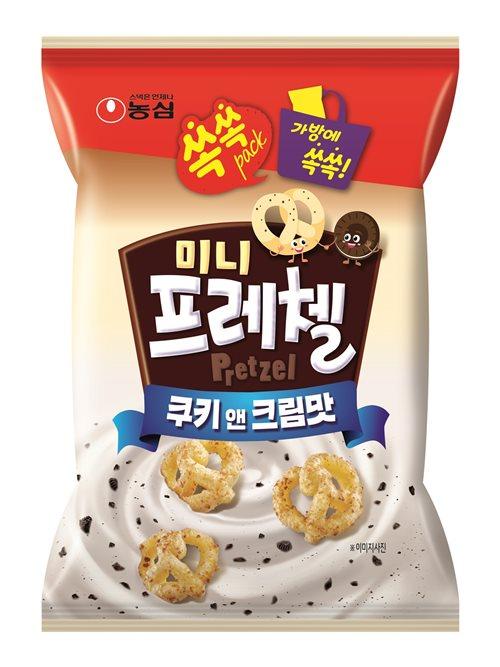 '미니프레첼 쿠키앤크림맛' 제품 이미지. ⓒ농심