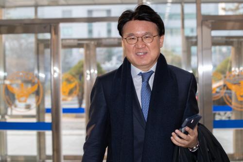 9일 오전 황운하 대전지방경찰청장이 대전지방청에 들어서고 있다. ⓒ연합뉴스