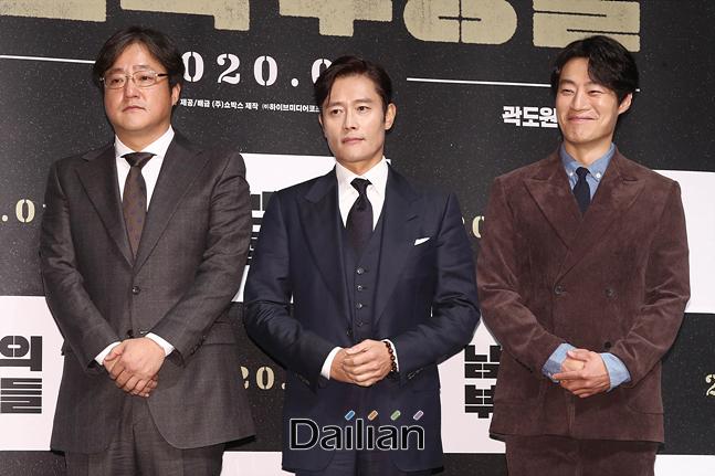 배우 이병헌, 곽도원, 이희준이 12일 오전 서울 강남구 CGV압구정에서 열린 영화