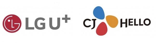 LG유플러스(왼쪽)와 CJ헬로 로고.ⓒ각사