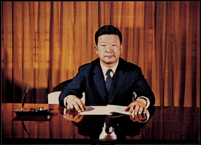 1970년 1월 LG그룹 회장 취임 당시 구자경 명예회장.ⓒLG