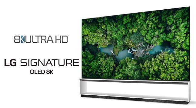 미국 소비자기술협회(CTA)의 '8K 초고화질(UHD)' 인증을 받은 'LG 시그니처 올레드 8K' 제품 이미지.ⓒLG전자