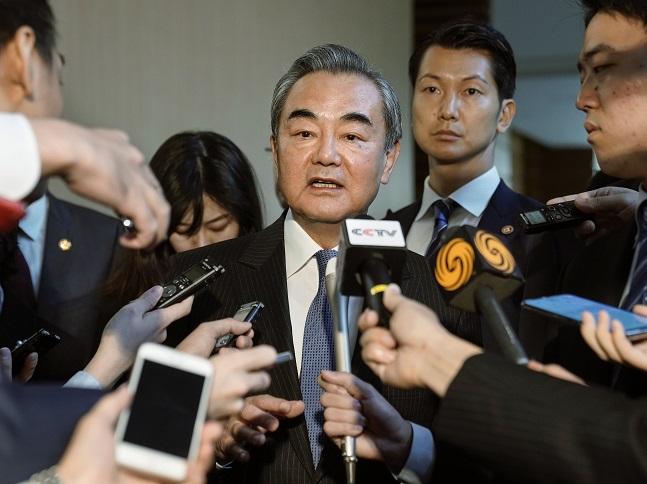 왕이(王毅) 중국 외교 담당 국무위원 겸 외교부장.ⓒAP/뉴시스