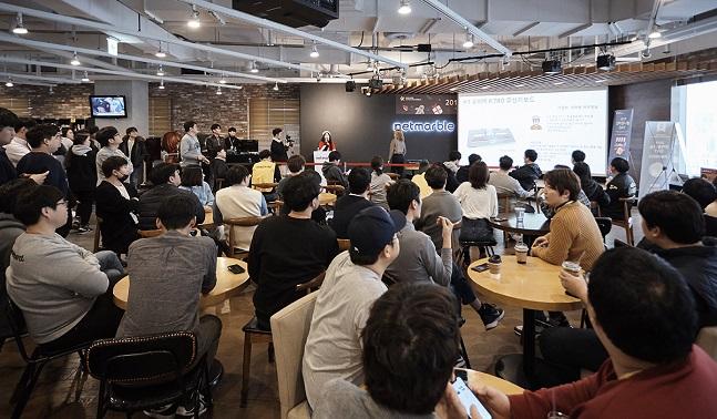 넷마블 임직원들이 지난 13일 서울 구로구 넷마블 본사에서 열린 넷마블문화재단 '2019 넷마블나눔 DAY'에 참석한 모습.ⓒ넷마블