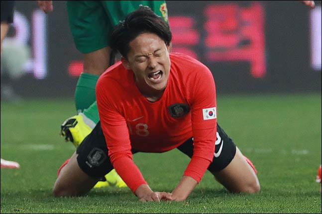 감격적인 벨기에 리그 데뷔전을 치른 이승우. ⓒ 데일리안 류영주 기자