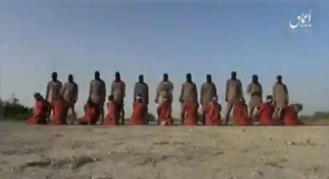극단주의 무장세력 이슬람국가(IS)가 전 세계 기독교인들에게 보내는 메시지라며 배포한 동영상. ⓒIS 선전매체 아마크 캡처