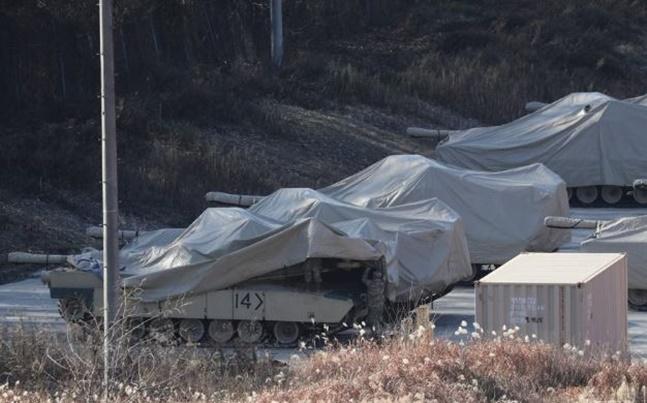 동두천 캠프 케이시의 미군 전차. ⓒ연합뉴스