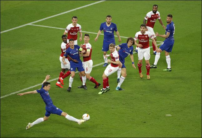 아스날과 첼시는 지난 시즌 유로파리그 결승전서 맞대결을 벌인 바 있다. ⓒ 뉴시스