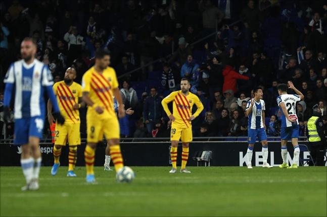 우레이가 5일 FC바르셀로나전 후반 43분 극적인 동점골을 터뜨렸다. ⓒ 뉴시스