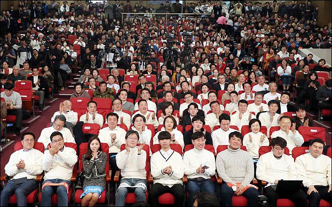 5일 오후 의원회관에서 새로운보수당 중앙당 창당대회가 진행되고 있다. ⓒ데일리안 박항구 기자