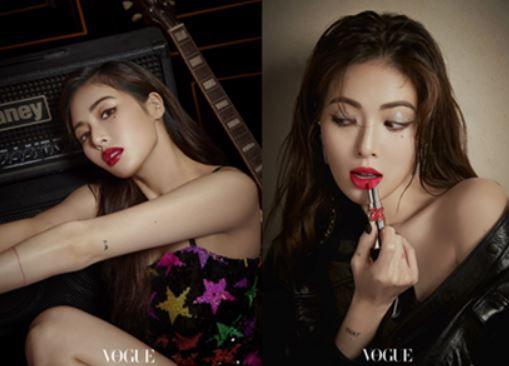 가수 현아와 꾸뛰르 코스메틱 브랜드 '입생로랑 뷰티(YSL Beauty)'가 함께한 디지털 화보가 공개됐다. ⓒ 미디컴