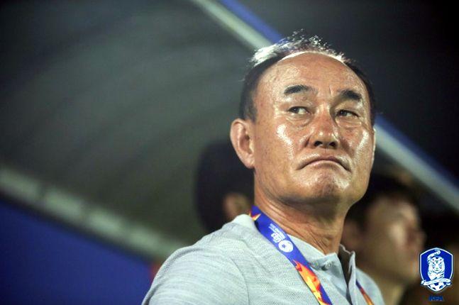 중국과의 첫 경기서 진땀승을 거둔 김학범호. ⓒ 대한축구협회