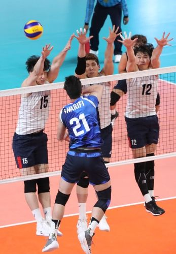 12년 만에 우승을 목표로 했던 남자대표팀은 2018자카르타-팔렘방 아시안게임서 결승서 또 다시 이란에 패했다. ⓒ연합뉴스