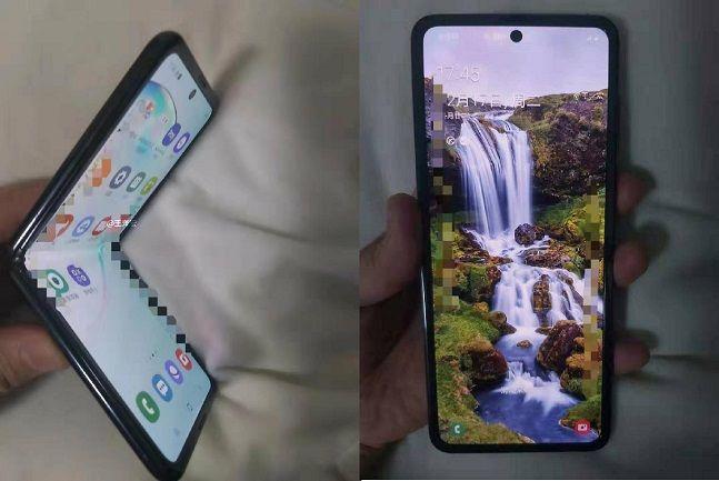 중국 웨이보에 유출된 삼성전자 '갤럭시폴드' 후속작 추정 사진.