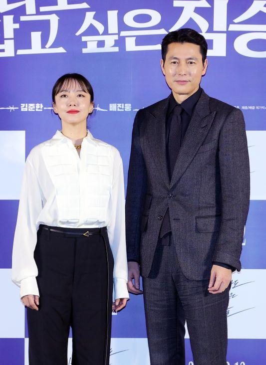 배우 전도연과 정우성이 13일 오전 서울 성동구 메가박스 성수점에서 열린 영화
