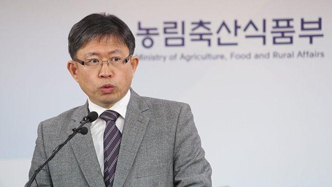 농림축산식품부 윤동진 농업생명정책관이 14일 오전 세종시 정부세정청사에서