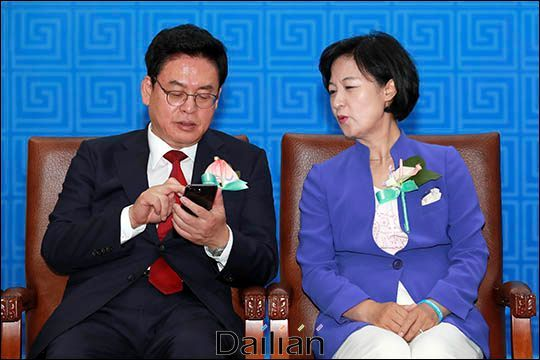 정우택 자유한국당 전 당대표권한대행(사진 왼쪽)과 추미애 법무장관(오른쪽). ⓒ데일리안