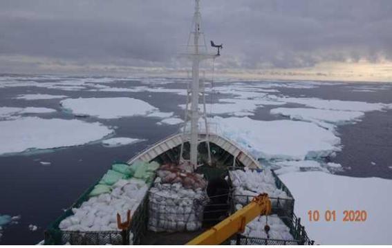 남극에서 조난당한 707 홍진호 ⓒ해수부