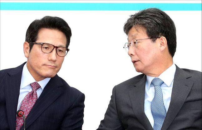 정병국 새로운보수당 인재영입위원장과 유승민 보수재건위원장(자료사진). ⓒ데일리안 박항구 기자