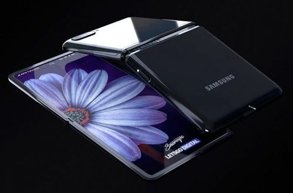 삼성전자 폴더블 스마트폰 '갤럭시Z 플립(가칭)' 렌더링 이미지.ⓒ레츠고디지털(https://nl.letsgodigital.org/opvouwbare-telefoons/samsung-galaxy-z-flip/)