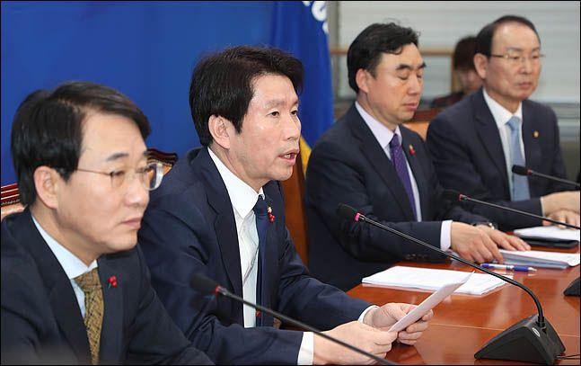 이인영 더불어민주당 원내대표가 회의를 주재하고 있다(자료사진) ⓒ데일리안 박항구