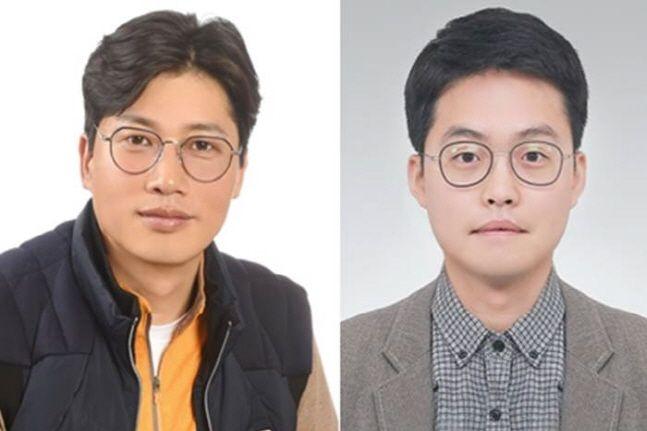 LG 의인상을 수상한 김진운(왼쪽)·하경민씨.ⓒLG