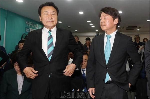 안철수 바른미래당 전 대표(사진 오른쪽)와 손학규 대표(자료사진). ⓒ데일리안 박항구 기자
