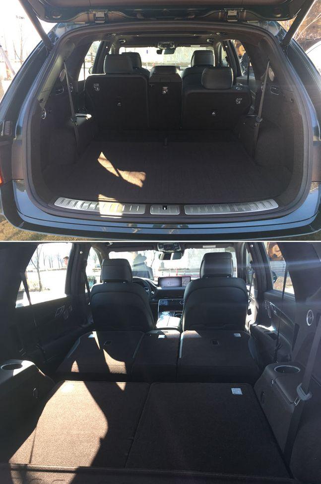 제네시스 GV80의 2열과 3열 좌석을 접은 모습. ⓒ데일리안 박영국 기자