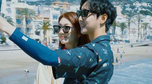 모델 김진경과 래퍼 크루셜스타가 결별했다. 디스커버리 SNS 캡처.